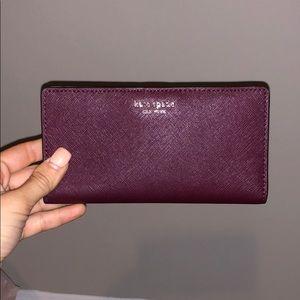 Kate spade large slim Cameron wallet cherrywood